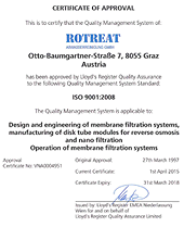 Rotreat ISO Certificate 9001